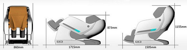 Технические характеристики массажного кресла Аксиом 2 (Space II)