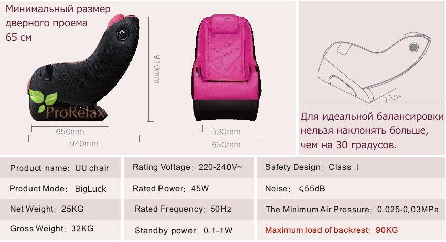 массажное кресло технические характеристики