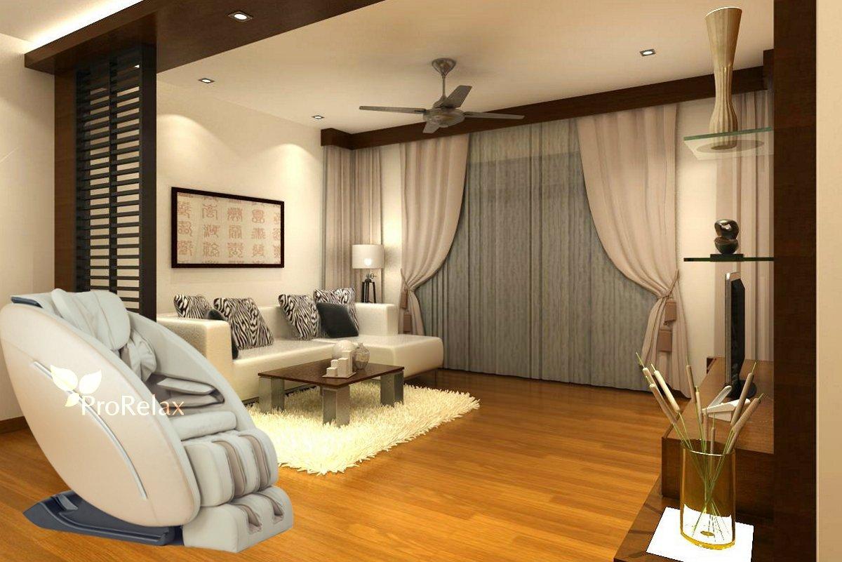 Кресло для массажа Pilot в интерьере гостинной